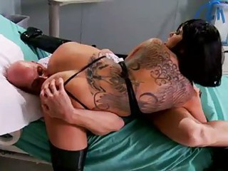 Johnny Sins finds himself in the hospital after extremely intense sexual experiences. The only doctor that knows what to do with him is tattooed fuck hungry brunette Julia Bond. This round assed brune
