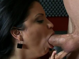 Big Breasted MILF Sophia Lomeli Sucks and Fucks For Cum