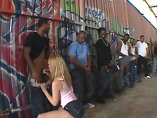 Nasty Annette Schwarz interracial gang bang
