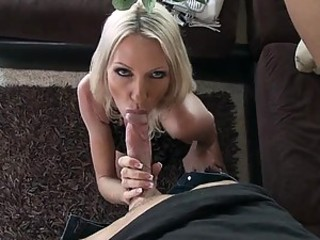 Horny Blonde MILF Emma Luminary Gets a Thick Cum On Tits In High Heels