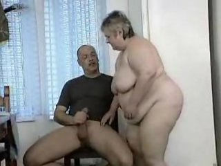 Chubby girl on the table fucked hard