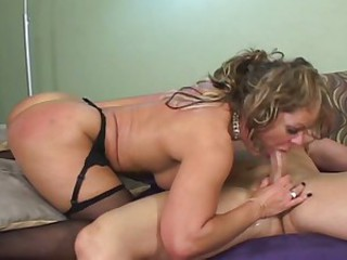 Horny milf drilled by a younger cock