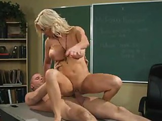 Teacher Diamond Foxxx fucked in school room