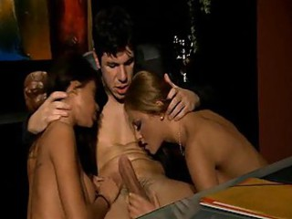 Witness a threesome with incredible women