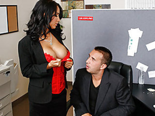 Keiran and his buddy are at work and are curious to know if the new hot girl's tits are real. Keiran gathers enough courage to ask her and she is more than willing to show him if they really are fake or real.