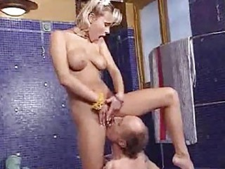 Old men playing with naughty sluts
