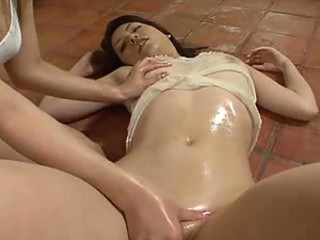 Slippery Japanese girls massage