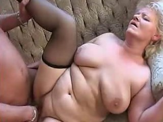 Shove around Granny in Stockings Loves Cock