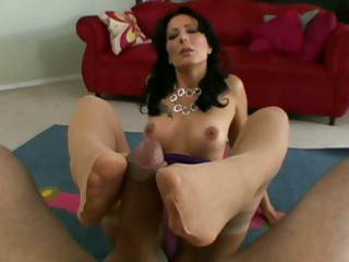 Zoe Holloway takes a juicy stricken schlong in her deep warm mouth