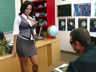 Busty Pitch-dark Teacher Ava Addams Having it away Her Favorite Student