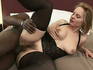Cumaholic Blonde MILF Gets a Black Monster Cock Just For Herself