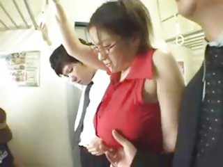 Busty Asian Riding The Train