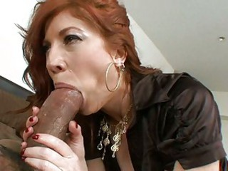 Scorching Brittany Oconnell is whacking her mouth with an amazing black boner