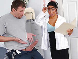Mark asks Dr. Akira for a penis enlargement after realizing that his wife wants a porn sized penis. After Dr. Akira analyzes the situation she realizes that there's is really no need to extend his already huge cock. While looking at the size of it she can