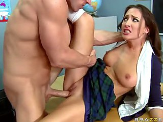 Beautiful Teen Babe Lizz Tayler Gets Fucked and Jizzed On Her Big Tits