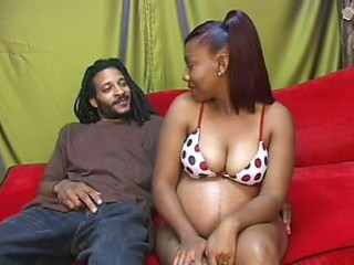 Pregnant Ebony Babe Hardcore Fucked by Big Load of shit