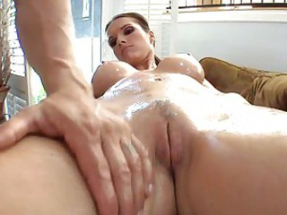 Sexy slut Jennifer Dark gets her fun bags massaged