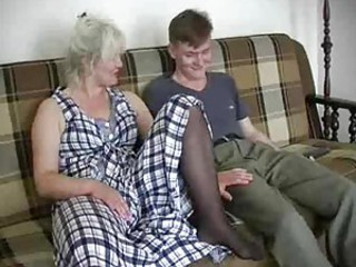 Granny and the young man downward within reach it
