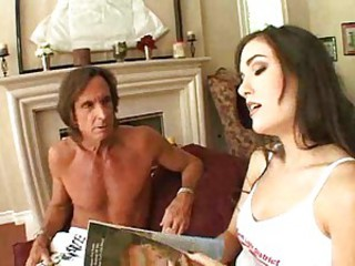Slutty pornstar and the two men that love her