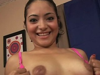 Super Horny Latina Slut Crams a Big Sex Toy Up Her Hairy Pussy