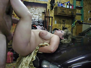 Fucking a BBW on the top of the hood