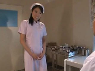 Sexy Japanese Nurse Getting Fucked In Threesome