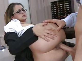Sultry archfiend Allie Haze gets her cunt impaled doggy feeling on a hot cock.