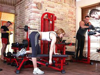 Bailee thinks she needs some training, not that because she's fat, not at all, she's too skinny and wants some with reference to muscles. Who could regard the best teacher for her? Why, be useful to course, a few muscular hunks would come in handy! But hey, that's assuredly a selection