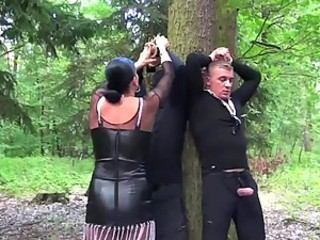 Bondage Queen Celine Noriet Gets Pissed By Her Sex Slaves