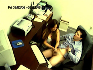 Busted Getting a Handjob By His Secretary in the Office