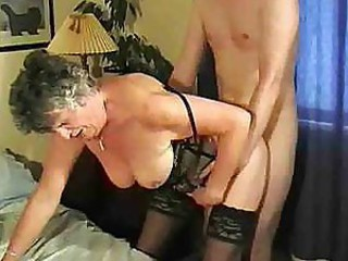 Graany Woman Fucking Guy Till Get Cumshot On Face