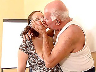 Grandpa Mireck Increased by Pregnant Slut