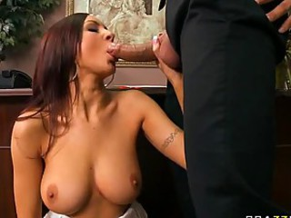 Sensual Office Slut Amy Reid Gets Fucked and Jizzed On Her Pretty Face