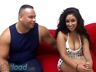 busty indian dancer Natasha Sull fucked hard by black guy
