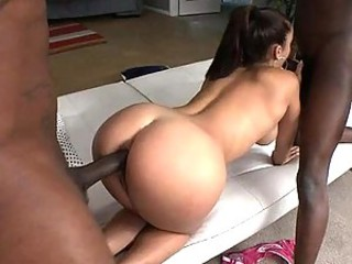 Liza Del Sierra gets Anal Pleasure in an Interracial Threesome on touching Monster Cocks