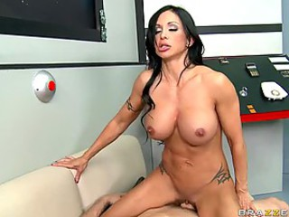 Hot Brunette Jewels Jade Gets Ass Fucked and Facialized In Outer Space