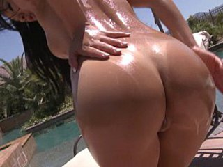 Ass Oiled Outdoor Pool
