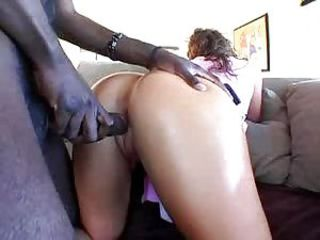 Cheerleader Naomi gets black balled deep