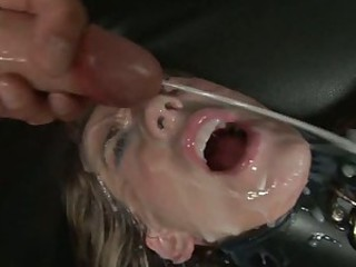 Amber Ashley let thick whitish fluid squirt to her