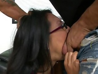 Asian Babe and her Big Tits Fuck a Big Cock to Exhaustion