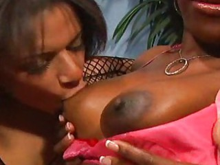 Super hot chick Alexis Silver getting nasty on the brush girlfriend's huge titties