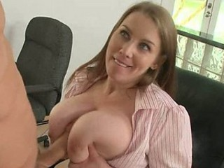 Big Breasted Boss Titty Fucks in the Place