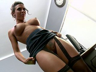 Babe Big Tits Brunette Pornstar Stockings Tattoo
