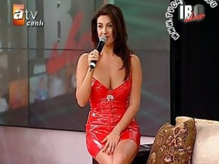 Upskirt coupled with Downblouse Turkish songster Tuba Ekinci