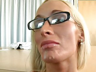Milf honey Lichelle Marie receives a hot reward of cock sauce after a good fuck