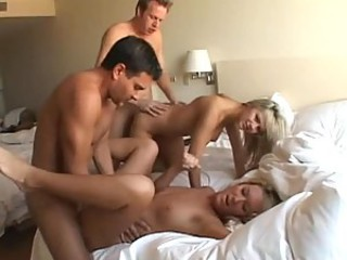 Hot Blondes In Amazing Orgy
