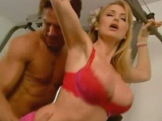 Super Busty Blonde Babe Taylor Wayne Gets Fucked In a Gym