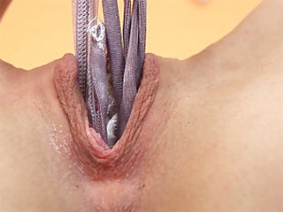 "Kylie stuffs her cut-offs in her pussy and slowly pulls them out. She then opens her shaved vagina with her fingers and gapes it wide for some ""you posterior almost taste it"" close ups. She in bits gently rubbing her clit, sending waves of pleasure throughout"