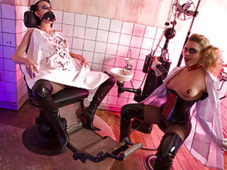 This video presents gothic bitches Franki coupled with Tammy clad in latex coupled with obvious leather indulging in filthy sex in be passed on dentist's office! Inflatable bushwa deep up in be passed on asshole is seemingly what gives them a wonderful kick! C'mon in coupled with get to remark how they find n