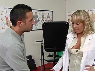 Cum Mustache For European Doctor Jessica Moore After Deep Throat